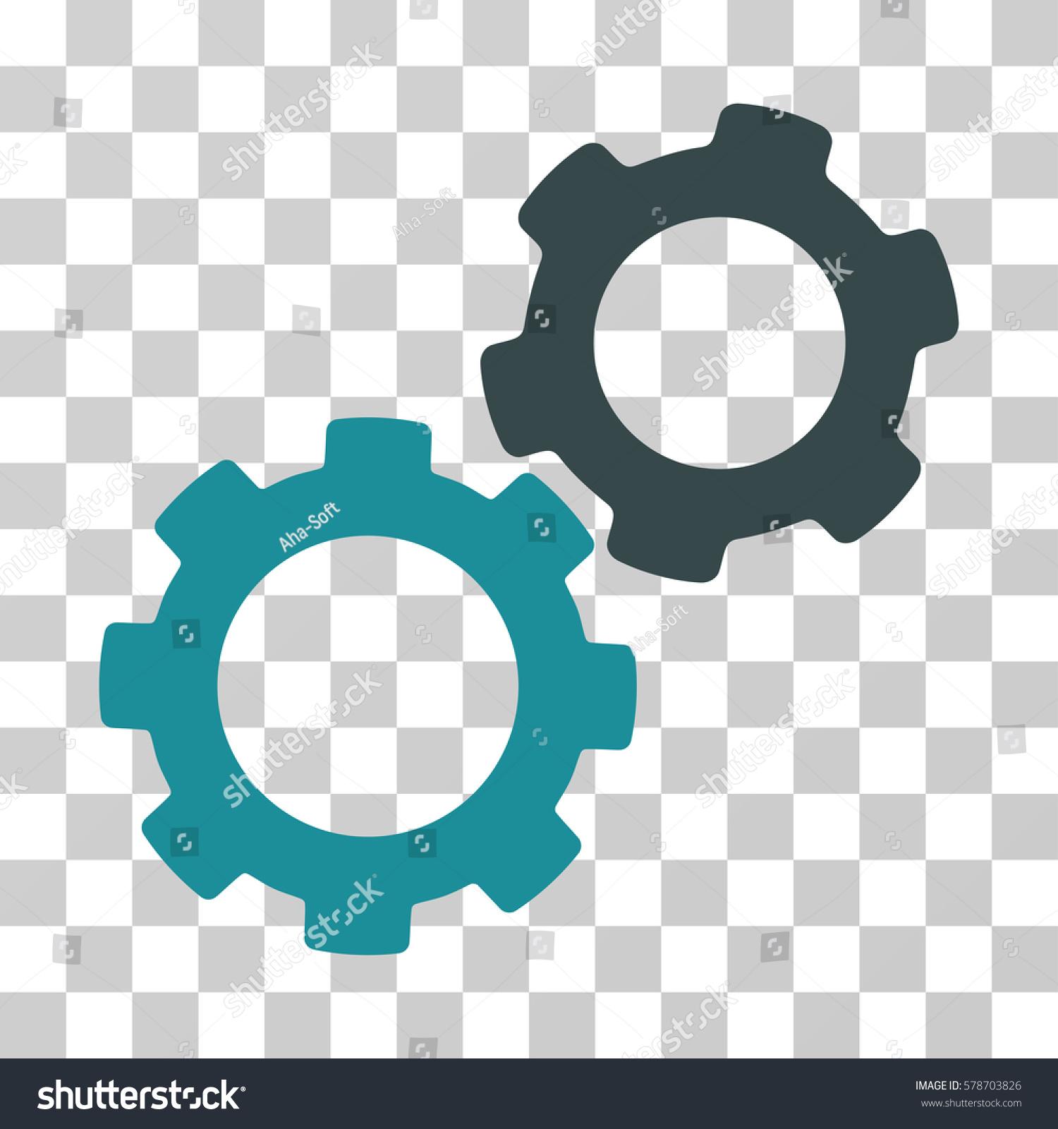 Gears Icon Vector Illustration Style Flat Stock Vector 578703826 ...