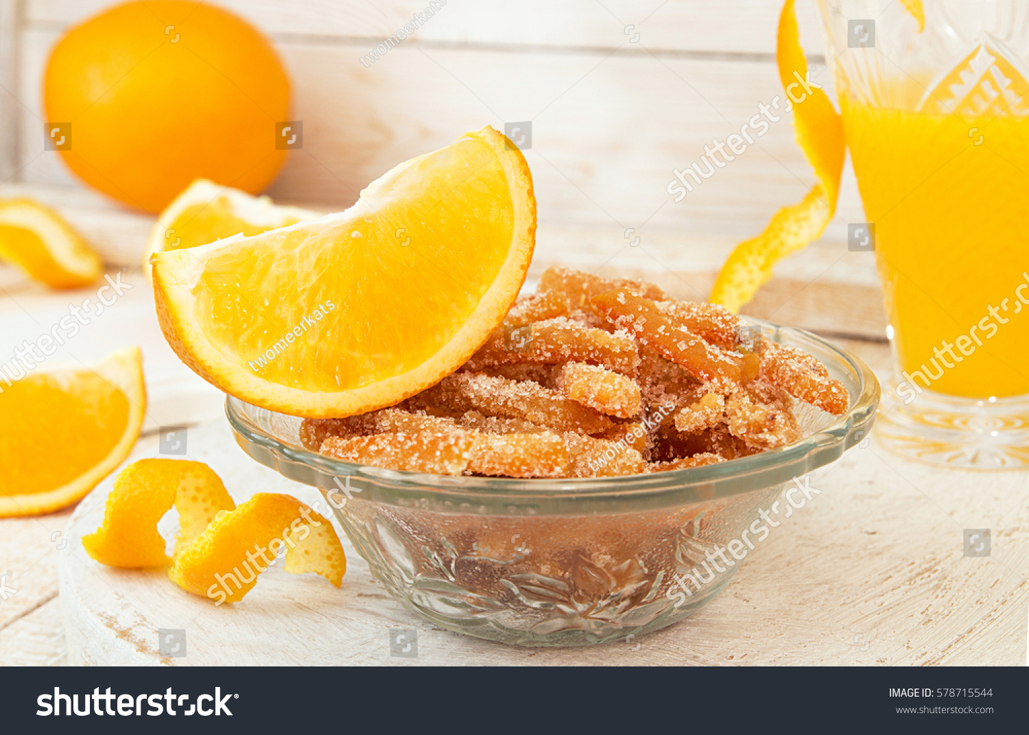 Candied Orange Slice Cake