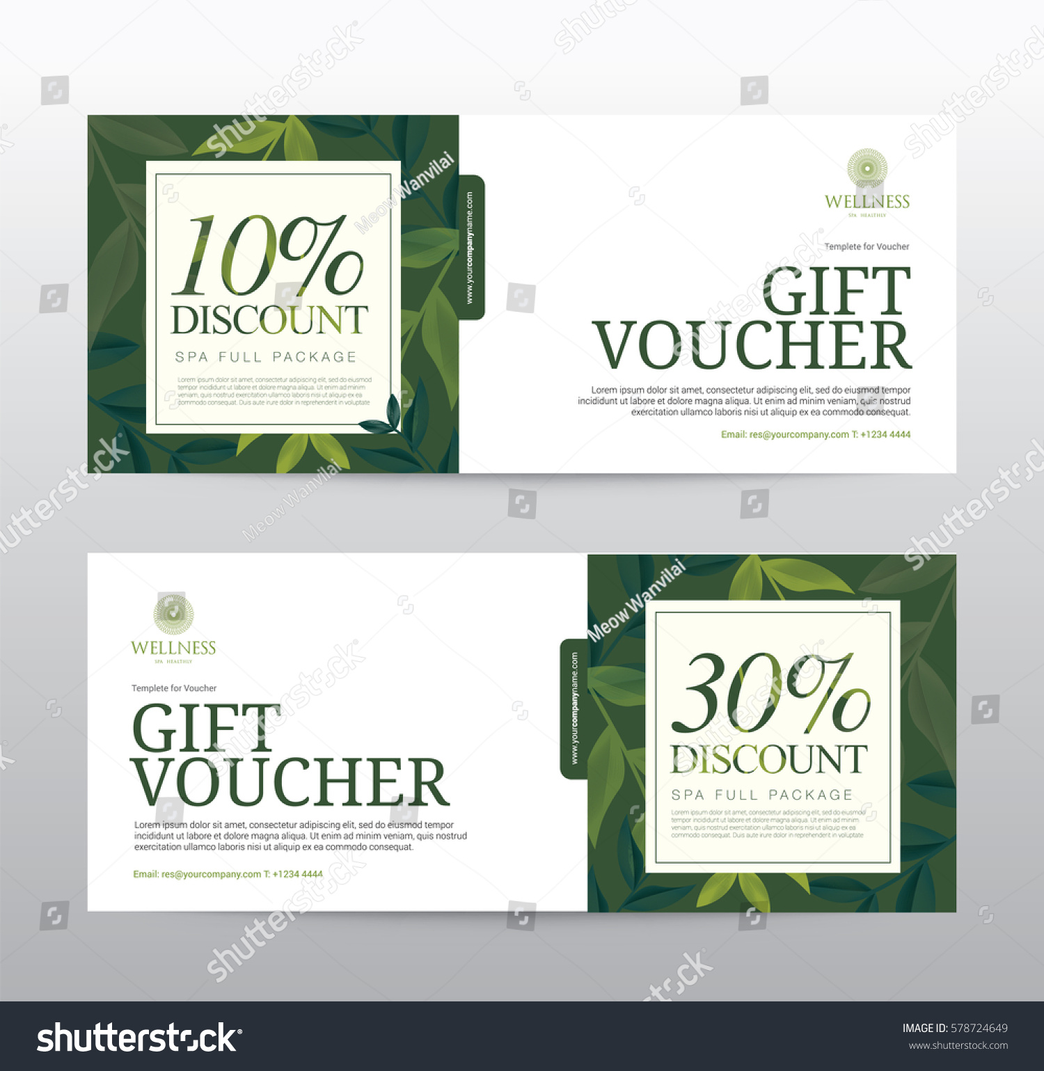 Gift Voucher Template Spa Hotel Resort Stock Vector Royalty Free - Email gift certificate template