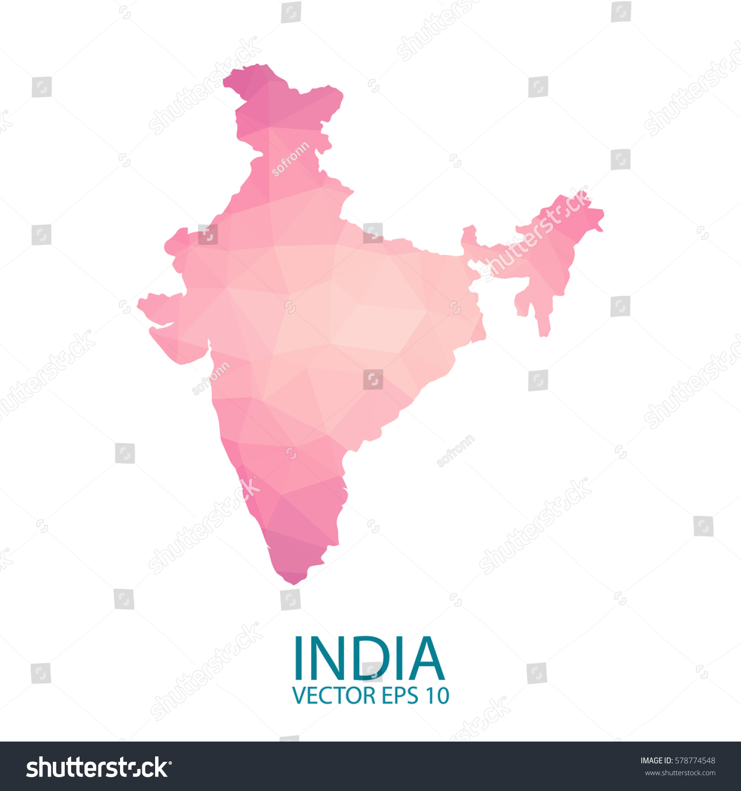 Bright india map national colors geometric stock vector 578774548 bright india map in national colors geometric style low poly triangles pink polygons vector gumiabroncs Gallery