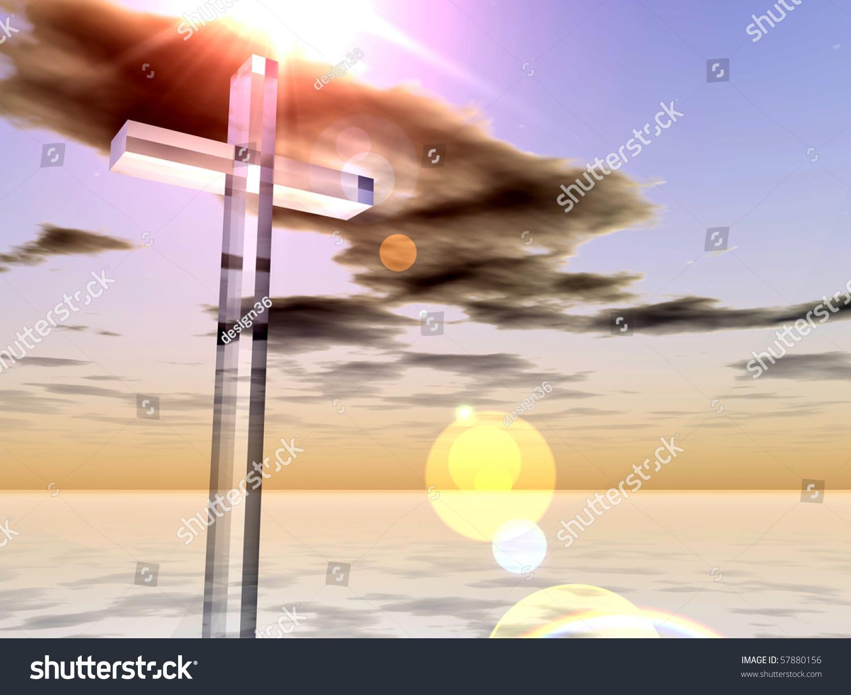 high resolution christian cross over a beautiful sky stock photo 57880156   shutterstock