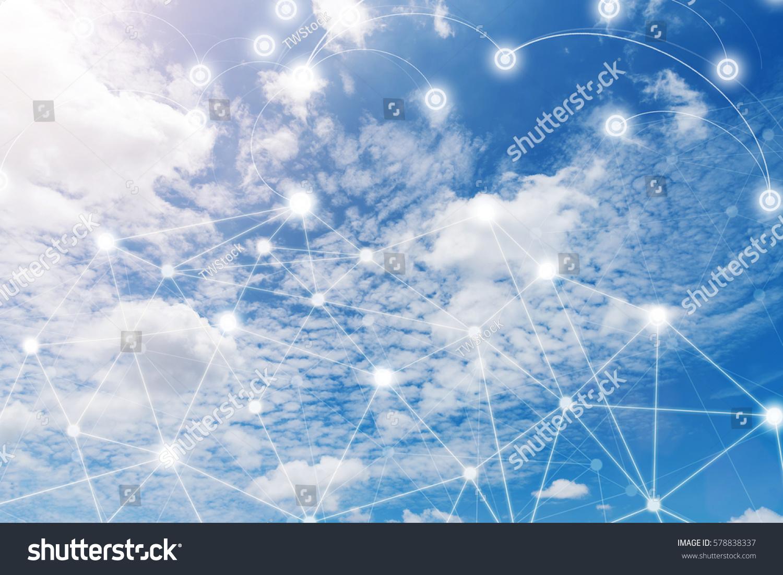 Wireless Communication Network Iot Internet Things Stock Photo ...