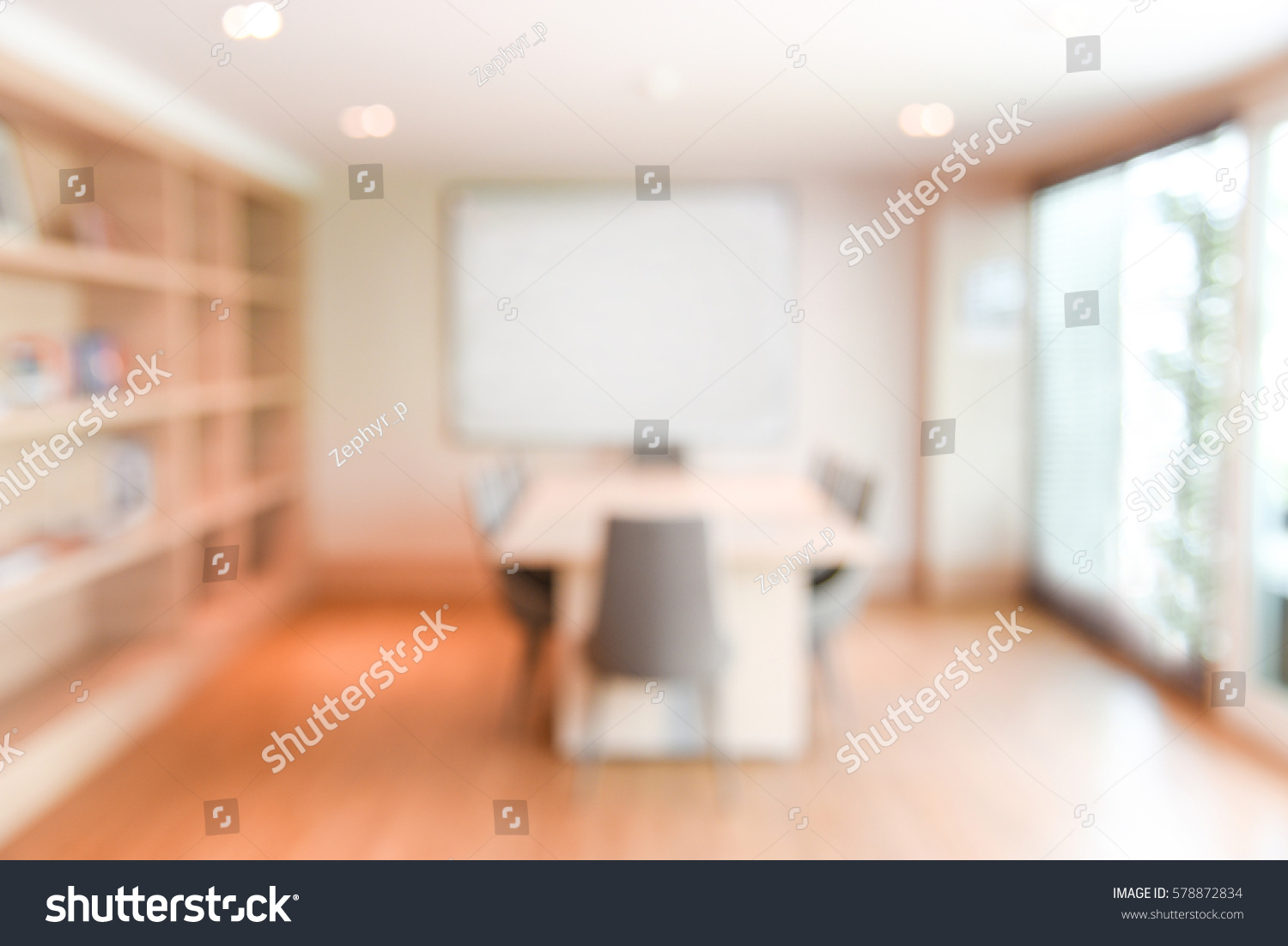 office backdrop. Abstract Blur Office Meeting Room Interior Background Or Backdrop, Blurred  Empty Vintage Boardroom Workspace For Backdrop H
