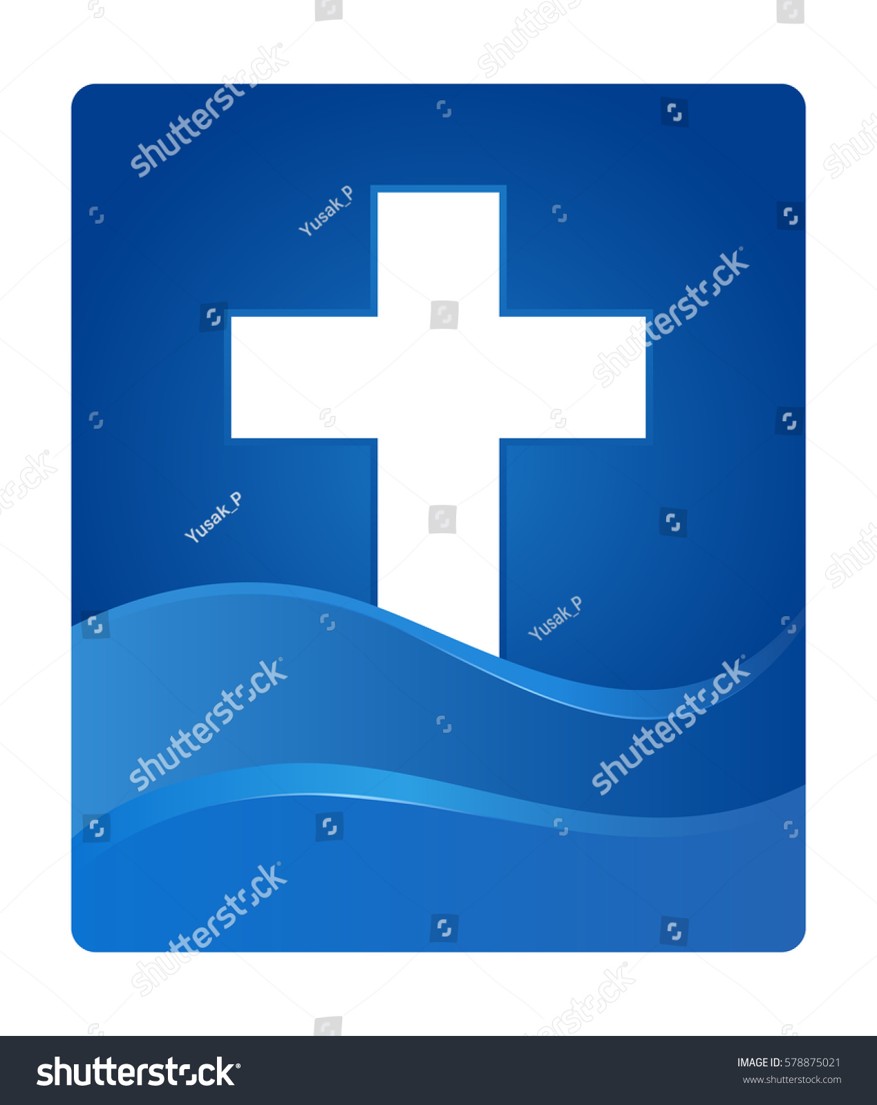 Vector stock christianity cross symbol blue stock vector 578875021 vector stock of a christianity cross symbol in blue gradient wave buycottarizona