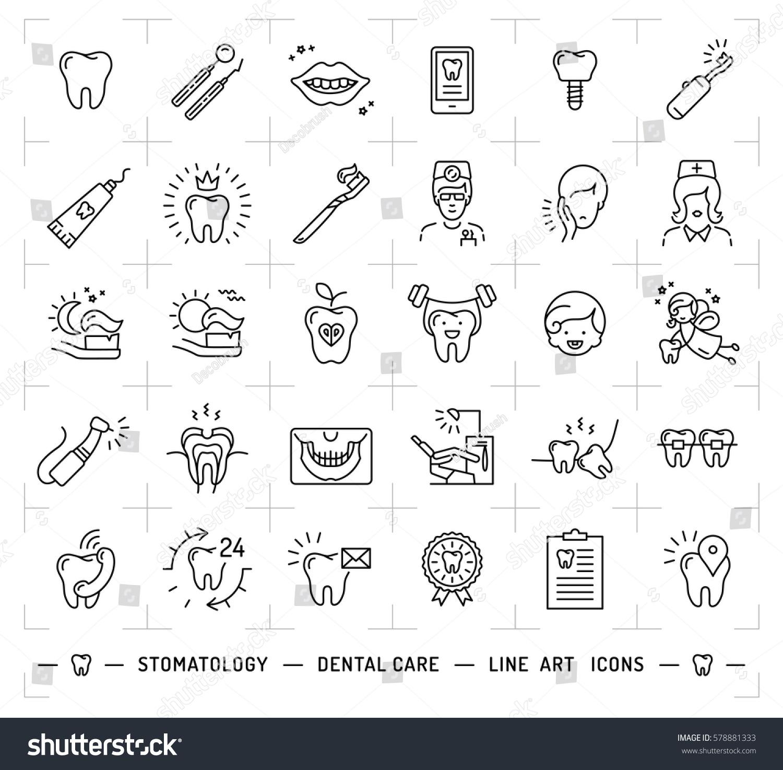 Stomatology icon dental care logo symbols stock vector 578881333 stomatology icon dental care logo symbols teeth dentist smile caries implant biocorpaavc Gallery
