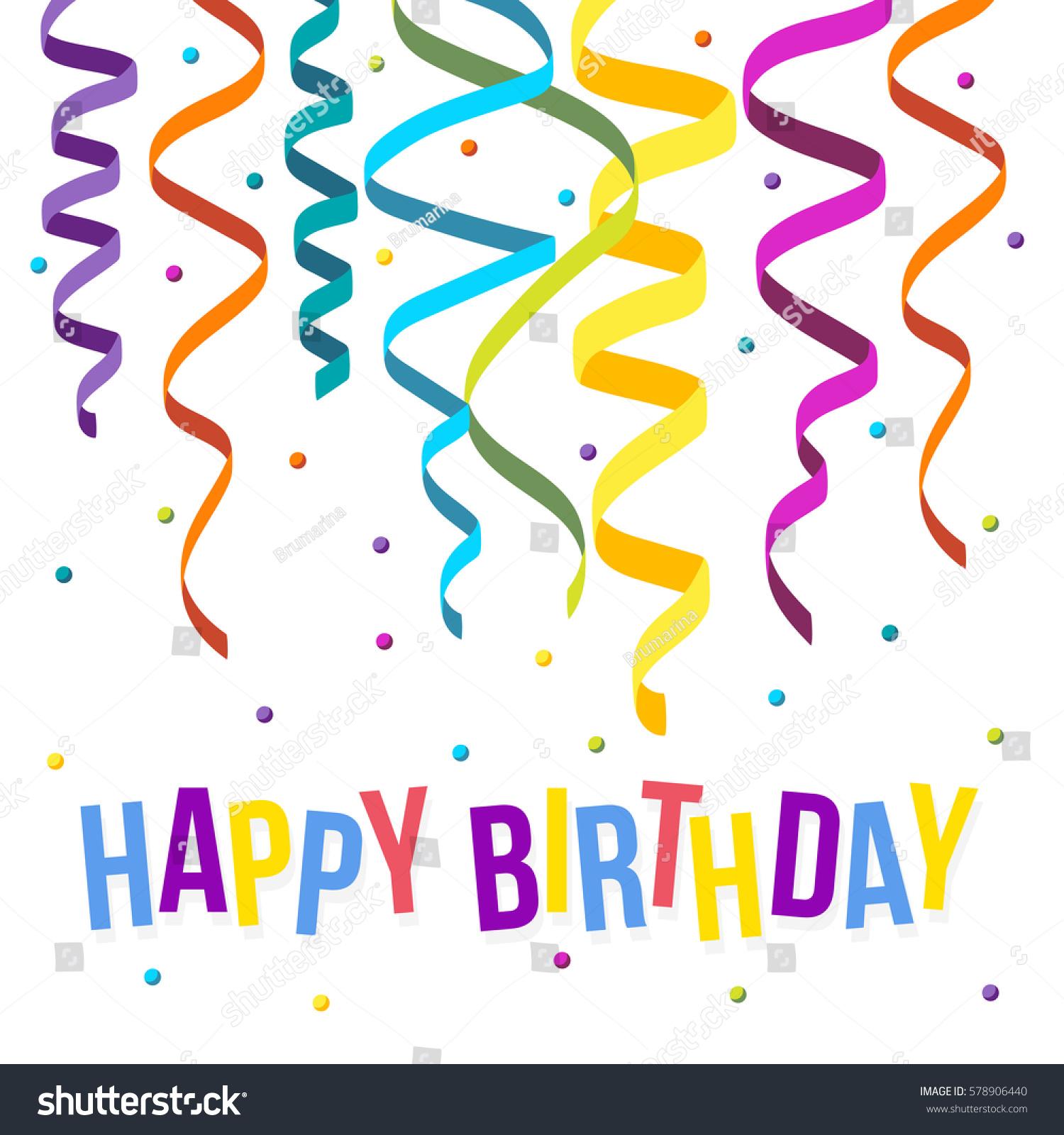 happy birthday card template flat colorful のベクター画像素材