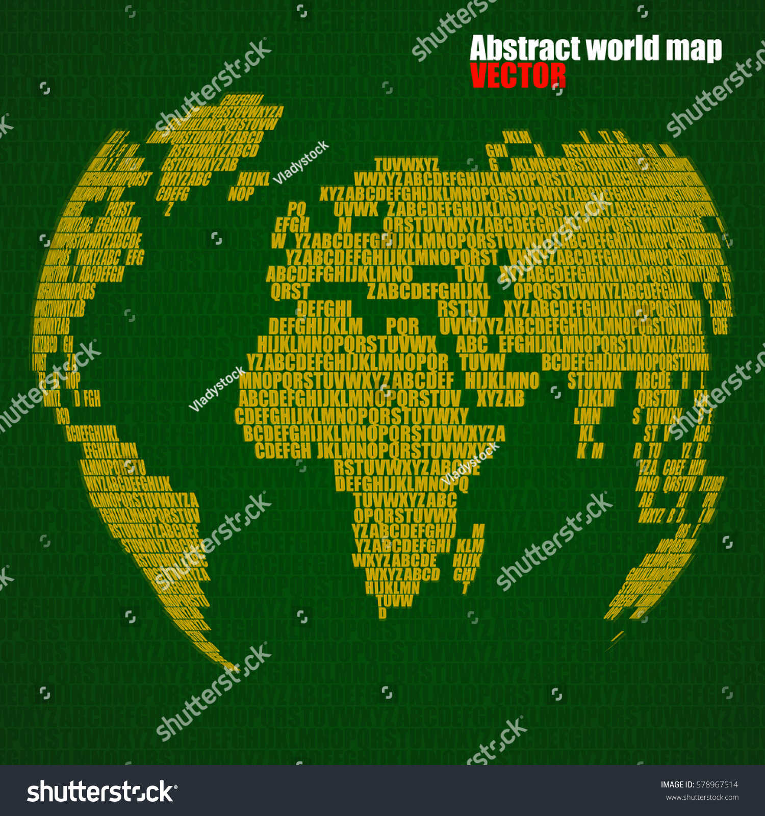 Abstract world map letters english alphabet stock vector 578967514 abstract world map with letters of english alphabet vector globe background gumiabroncs Image collections