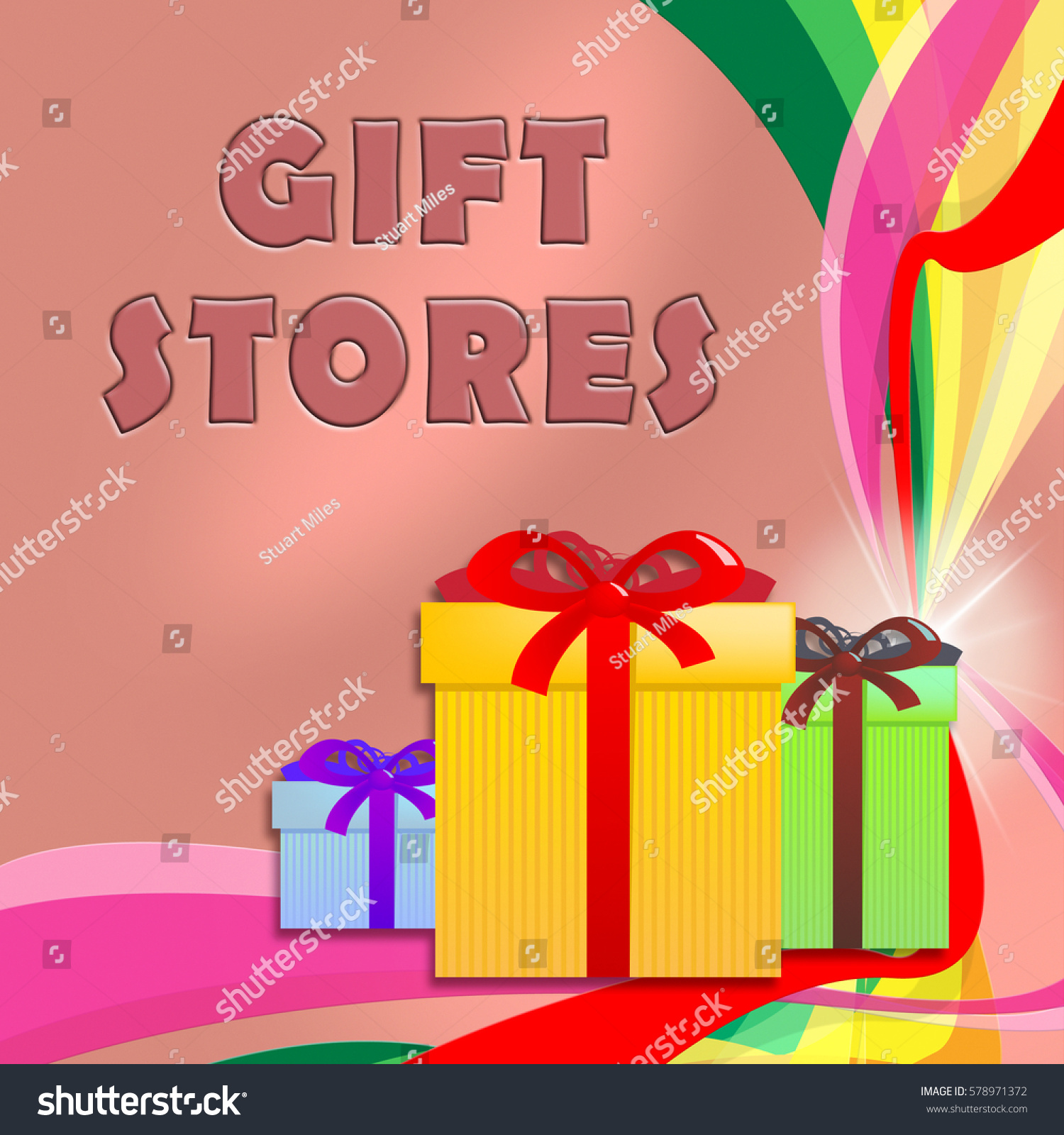 Gift Stores Shows Shop For Birthday Presents