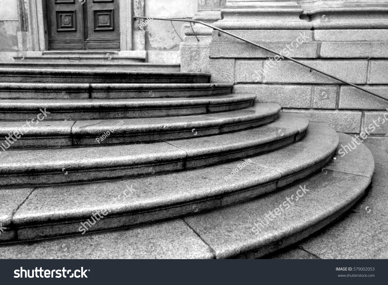Black Ad White Marble Stairs Stock Photo Edit Now 579002053
