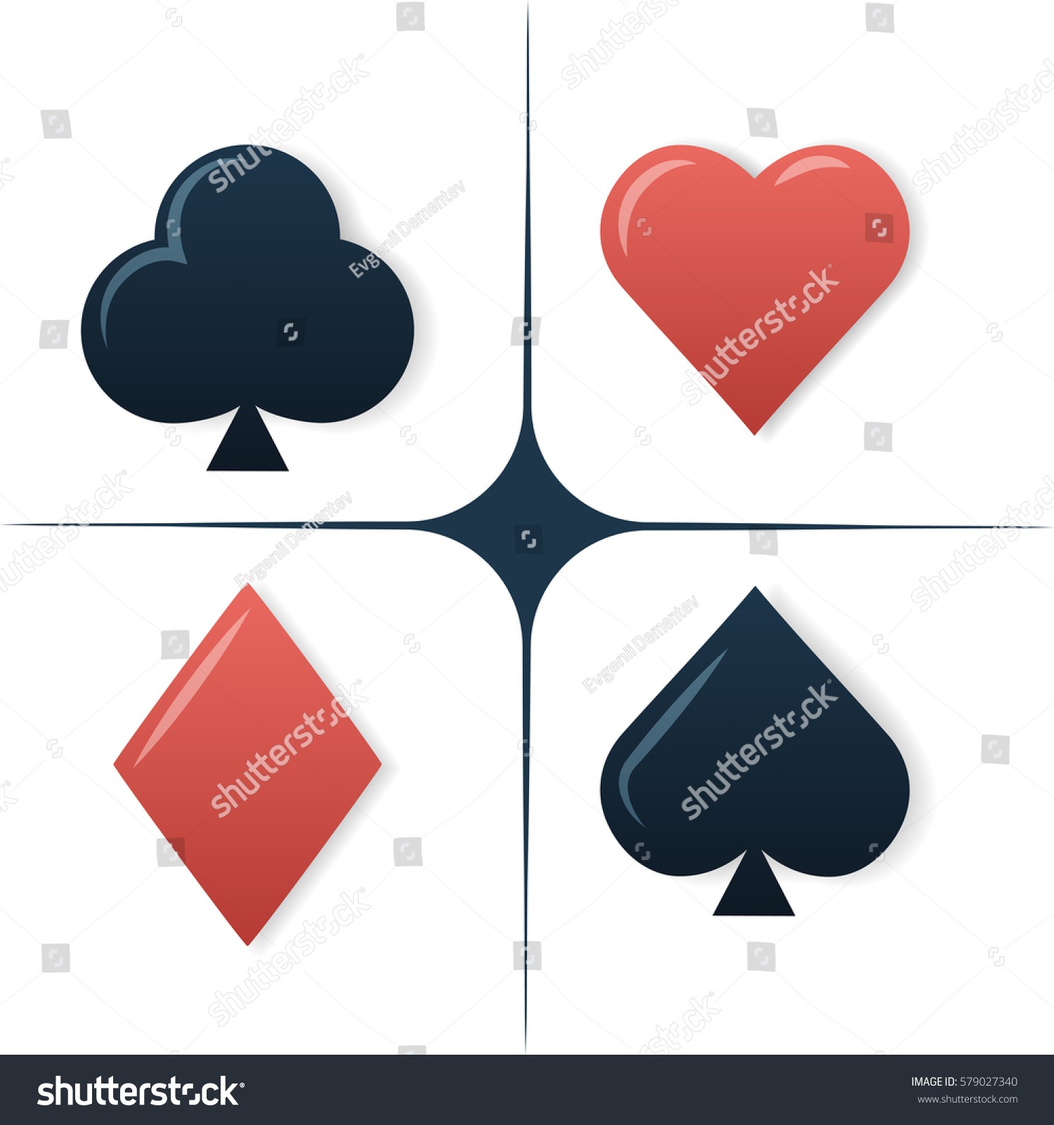 Colorful playing cards symbols set on stock vector 579027340 colorful playing cards symbols set on white background biocorpaavc