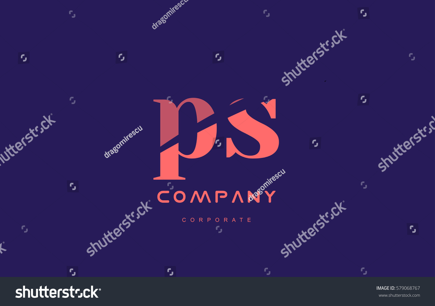 S P Ps Alphabet Small Letter Stock Photo Photo Vector