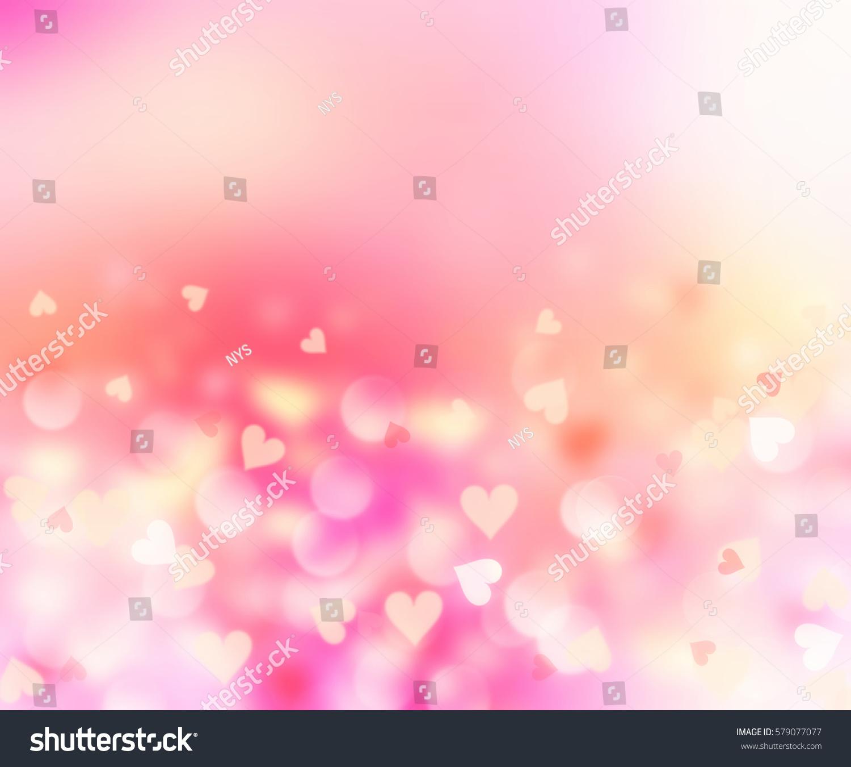Blurred Hearts Valentine BackgroundPink Romantic Wedding Wallpaper