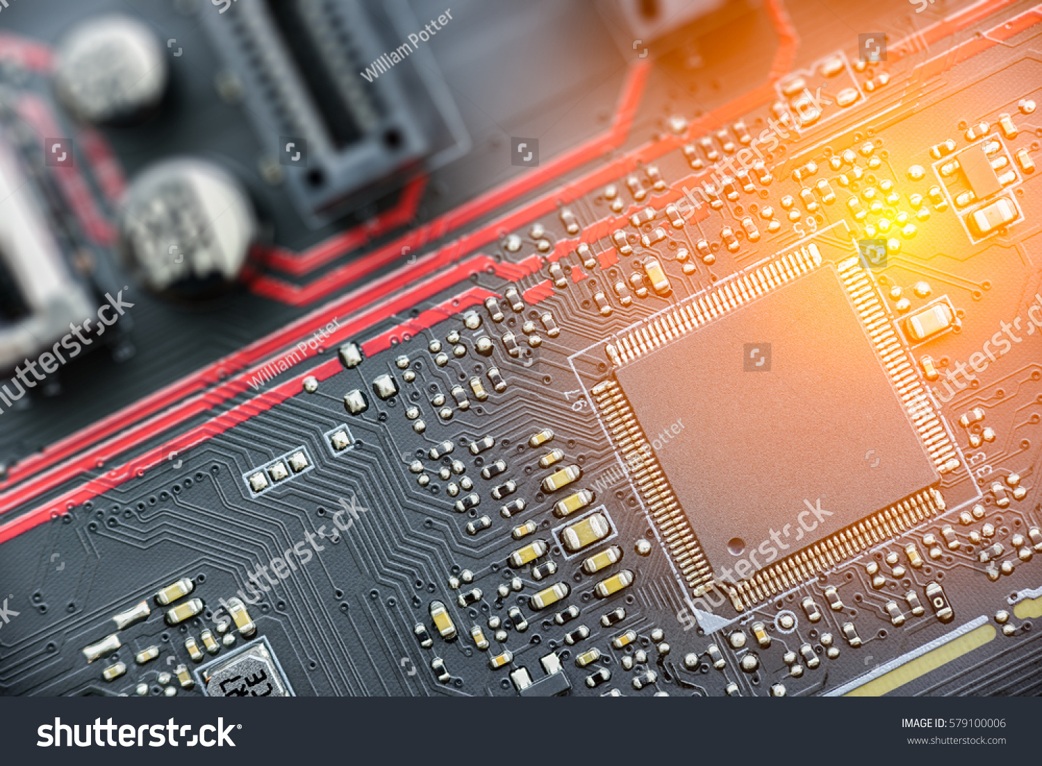 Cpu On Printed Circuit Board Pcb Stock Photo Edit Now 579100006 What Is A Or The Brains And
