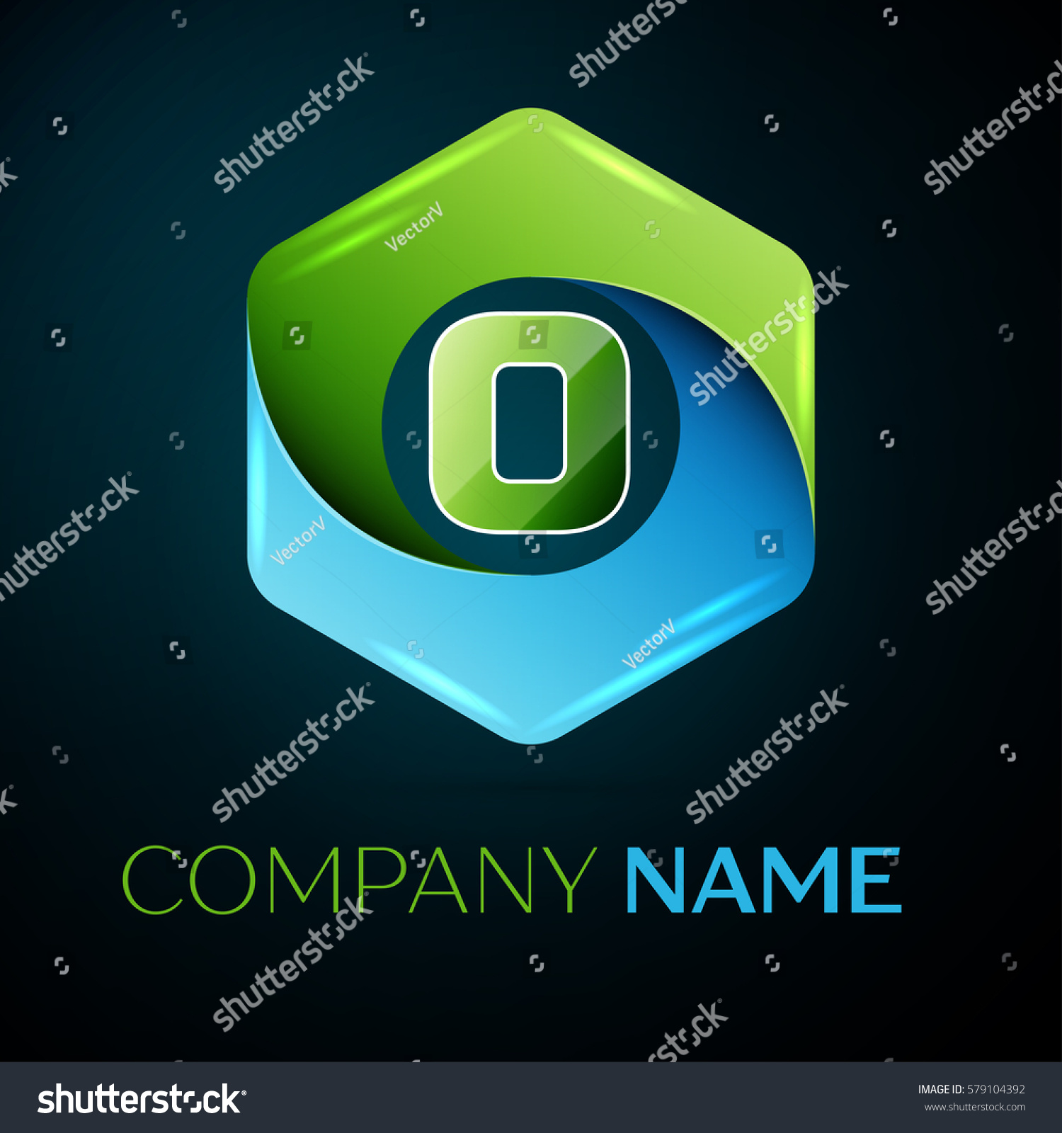 Letter o logo symbol colorful hexagonal stock illustration letter o logo symbol in the colorful hexagonal on black background template for your design buycottarizona