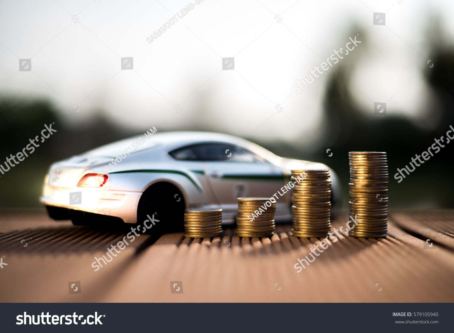 Saving Money Car Trade Car Cash Stock Photo 579105940 - Shutterstock