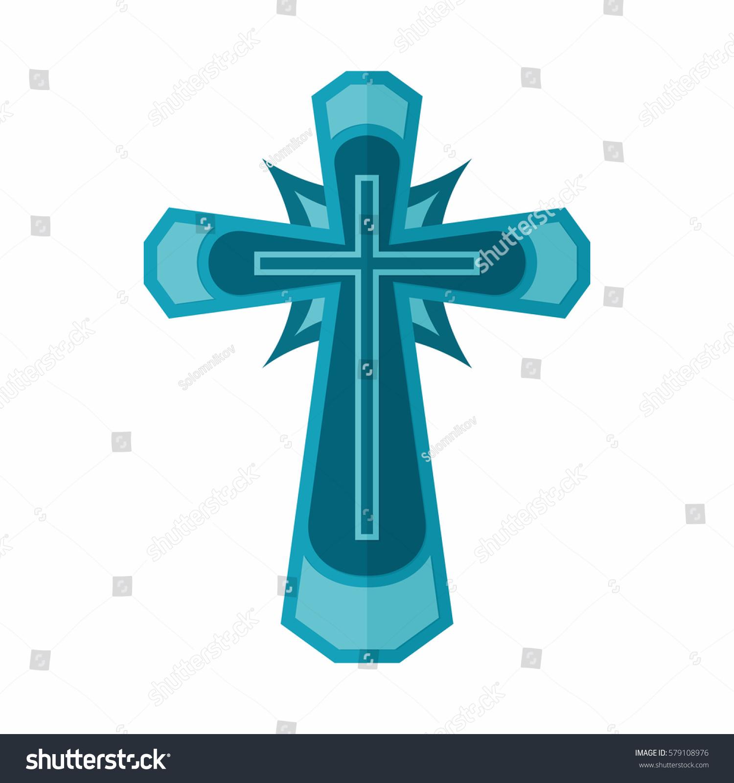 Christian Symbol Cross Lord Savior Jesus Stock Vector Royalty Free