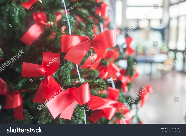 Red Ribbon Tie Christmas Tree Stock Photo Edit Now 579119764