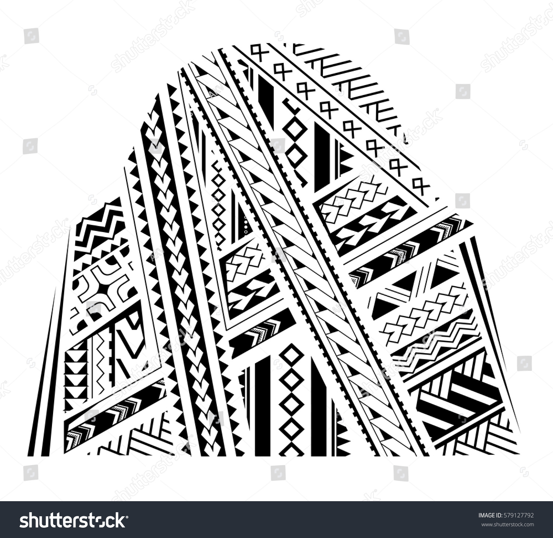 Samoa style ornament good bicep sleeve stock vector for Vector tattoo sleeve