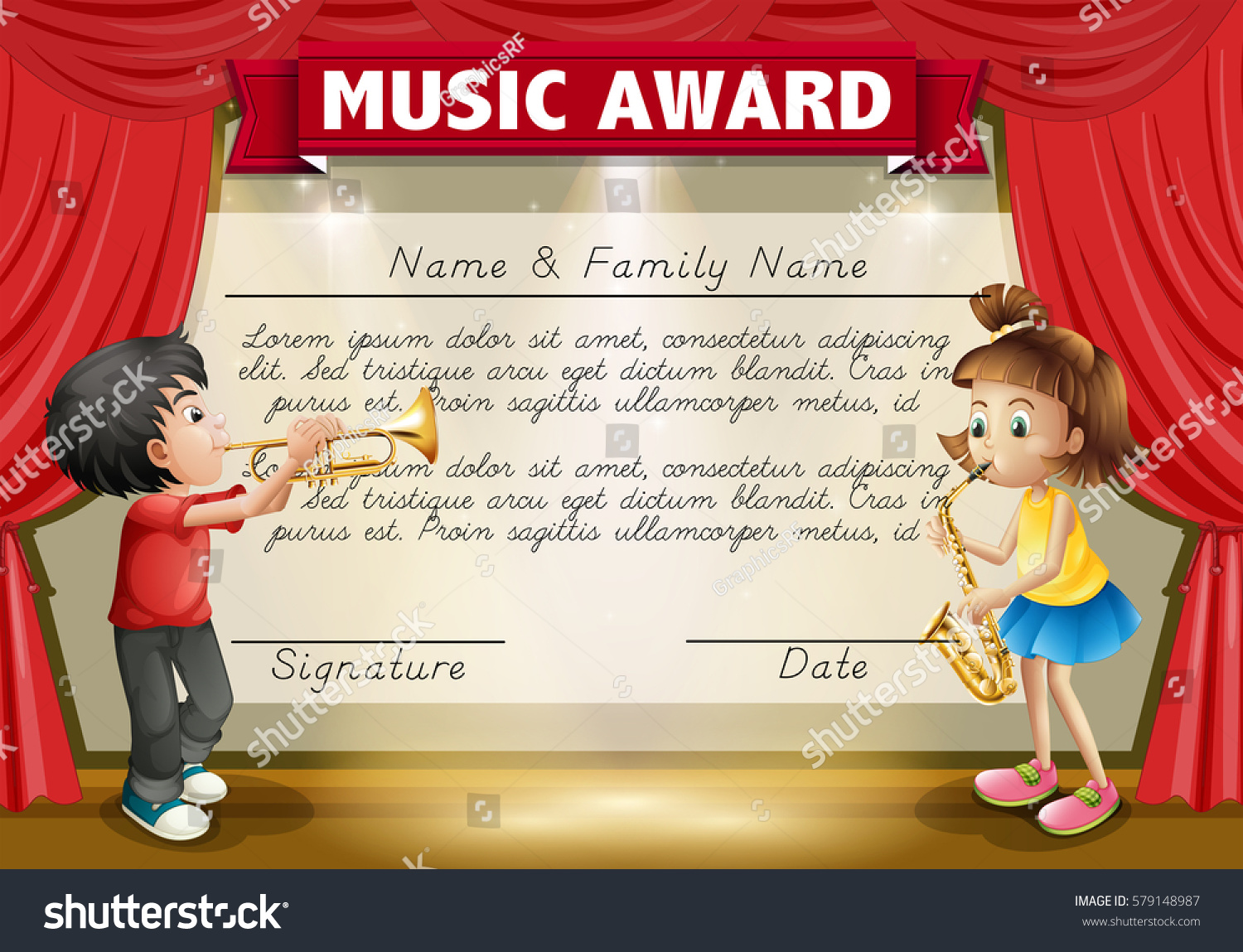 Music Awards Certificates Templates Zrom