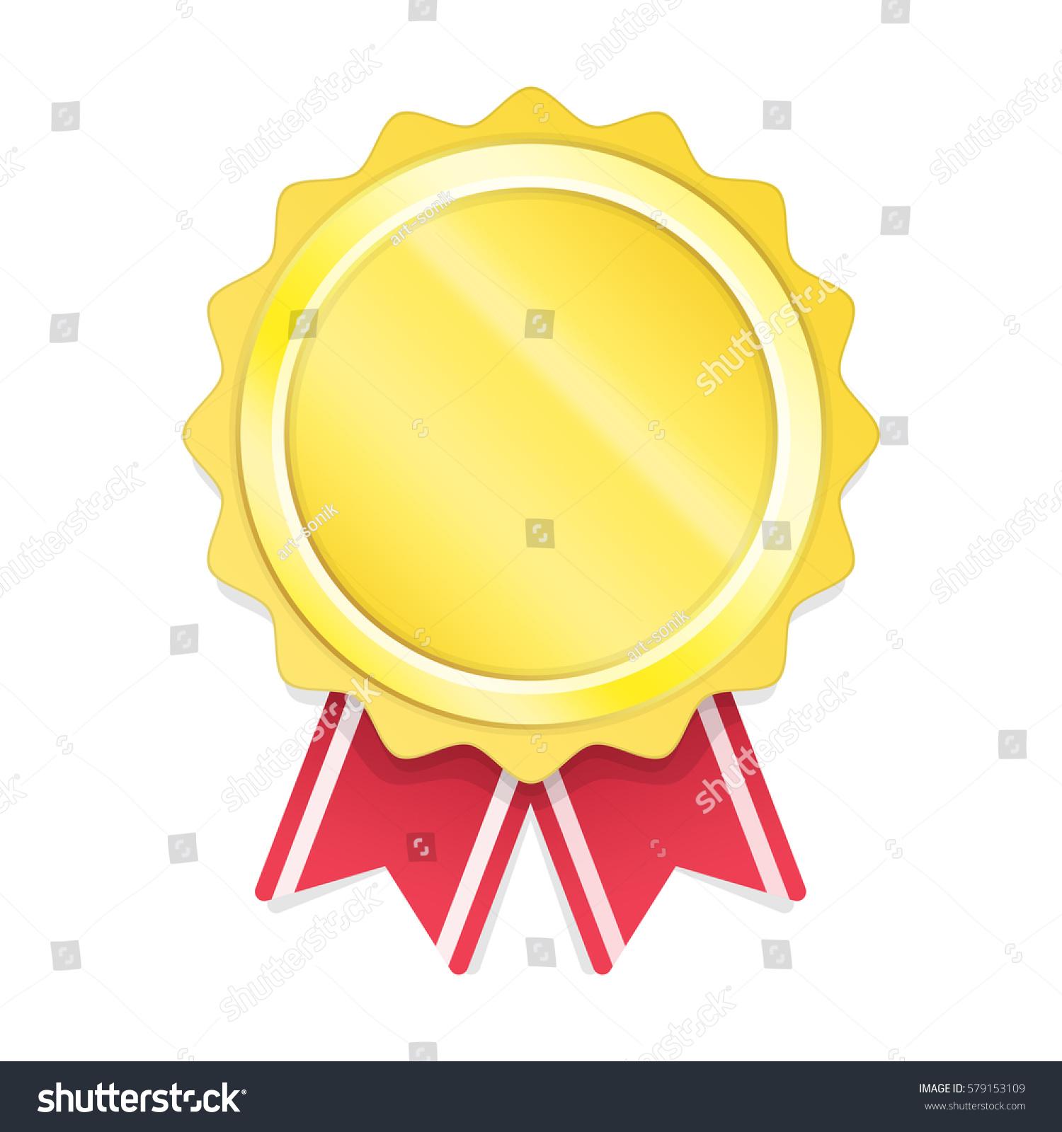 blank gold circle metal badge template stock vector royalty free