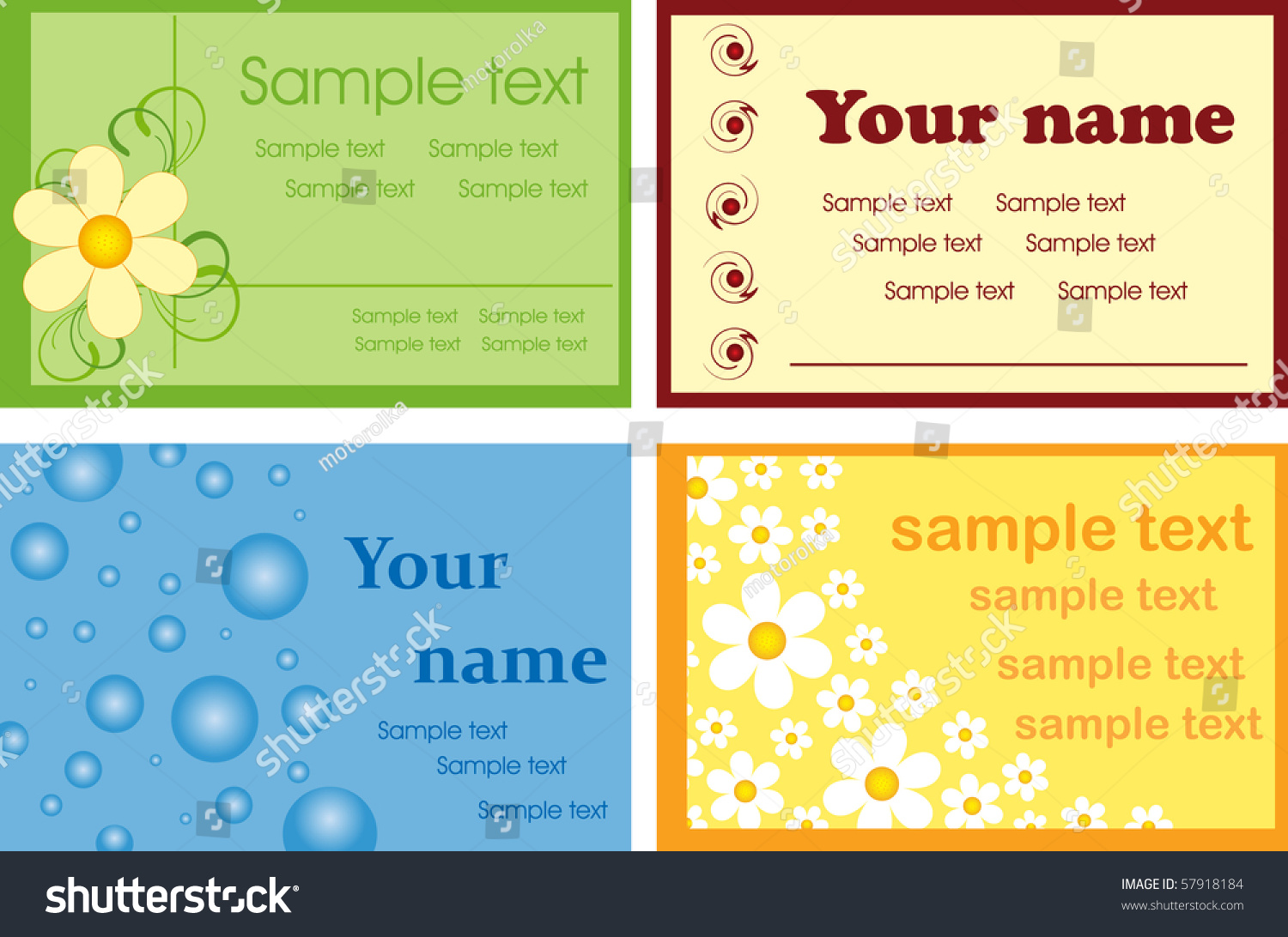Various business cards card layouts stock vector 57918184 shutterstock various business cards card layouts colourmoves