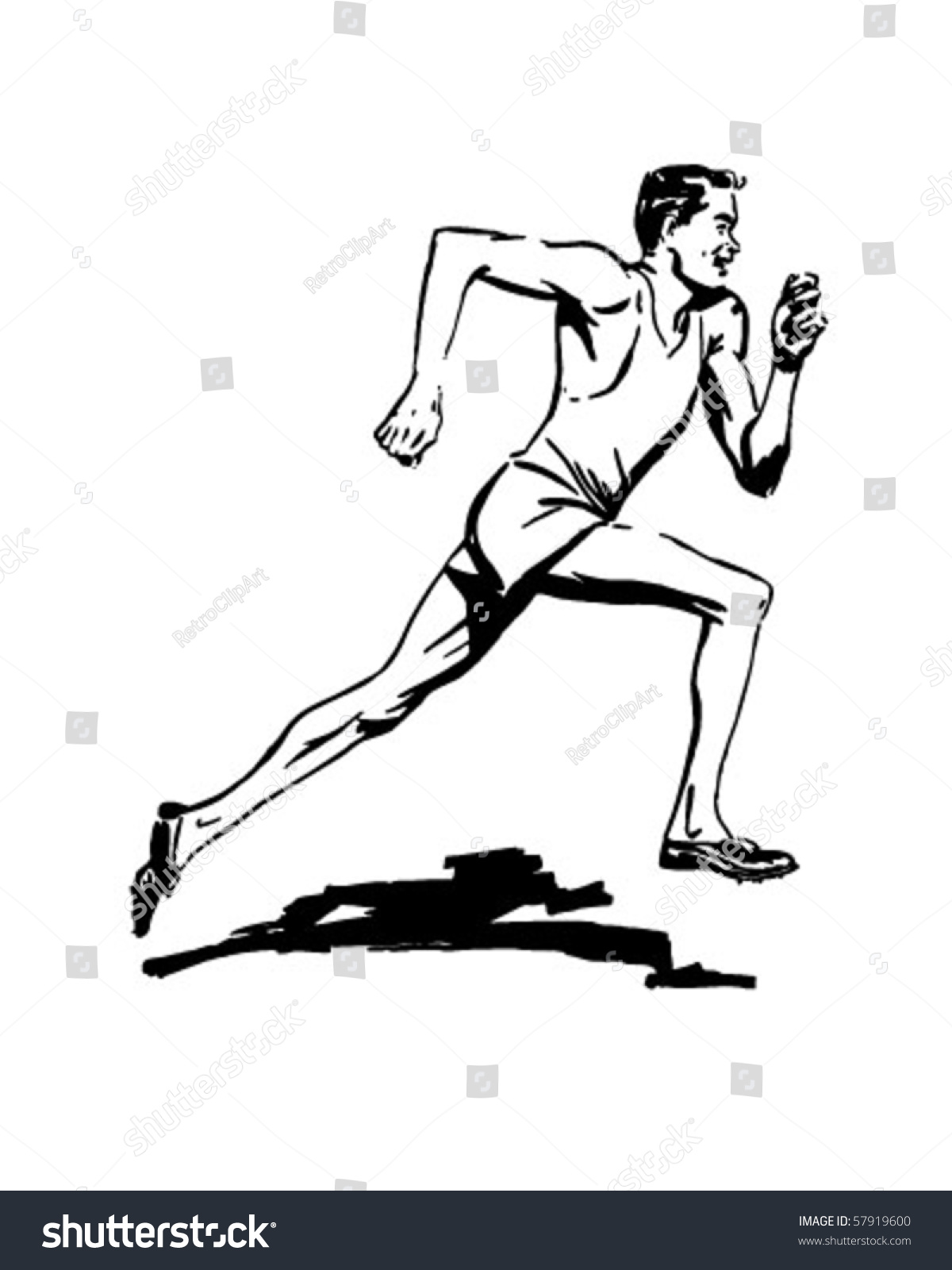 This is a graphic of Handy Track And Field Drawing