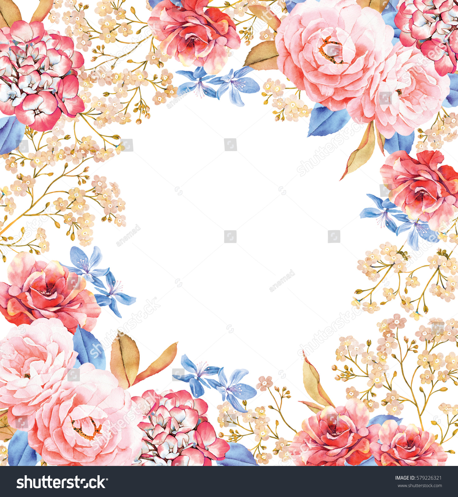 Round background template made pink red stock illustration for How are blue roses made
