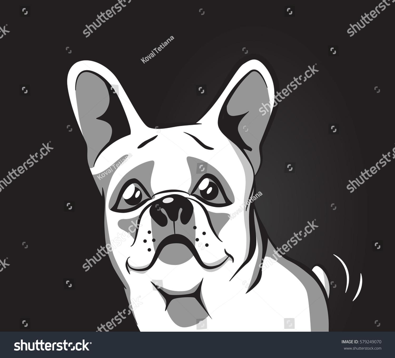 Vector Image Dog French Bulldog Logo Vector de stock (libre de ...