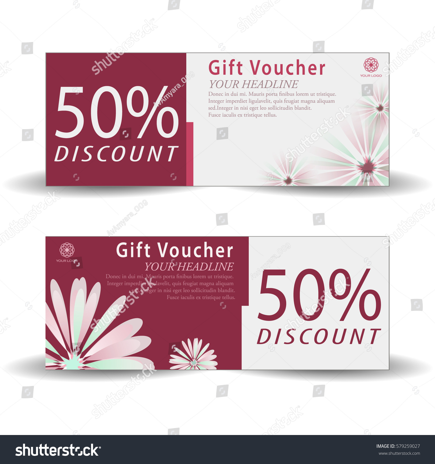 Spa discount coupons templates