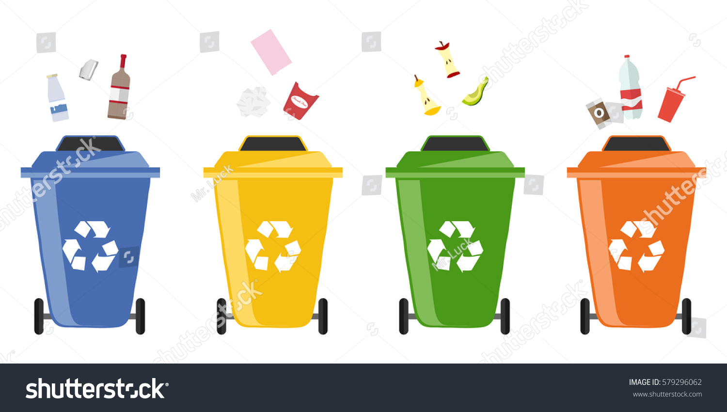 Trash can out wheeled bin icon stock vector 579296062 for Waste paper things