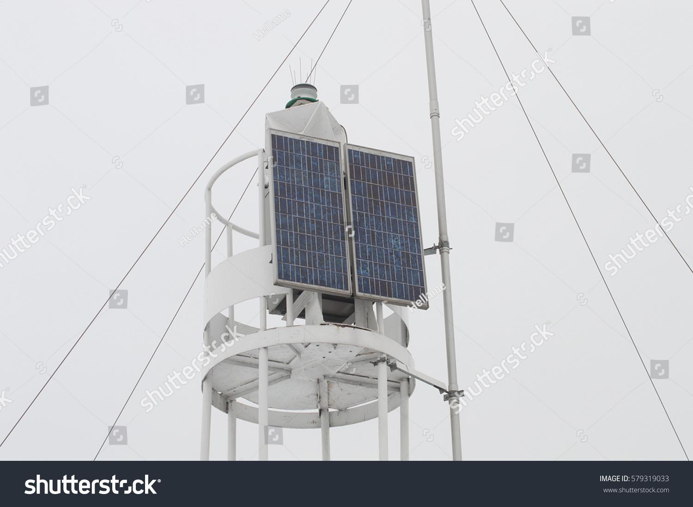 Electricity Saving Solar Panel On Empty Stock Photo (Royalty Free ...