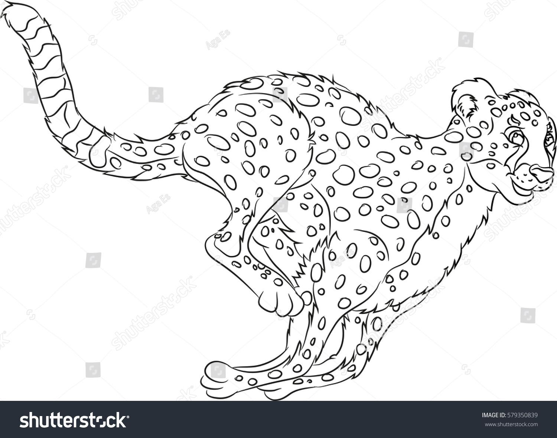 Happy Smiling Cartoon Running Wild Cat Stock Vector ...