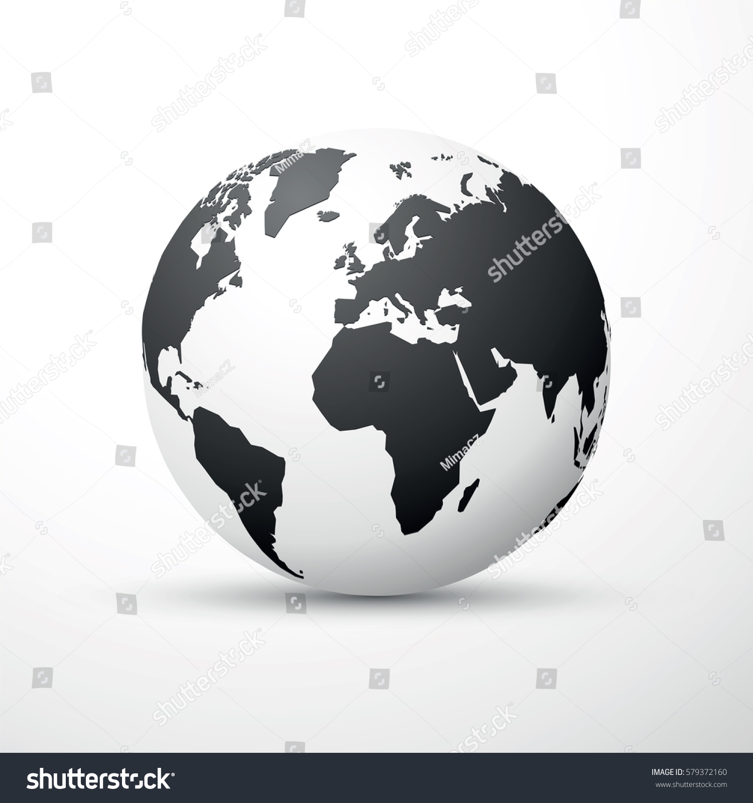 Black earth globe world map design stock vector 579372160 black earth globe world map design gumiabroncs Image collections