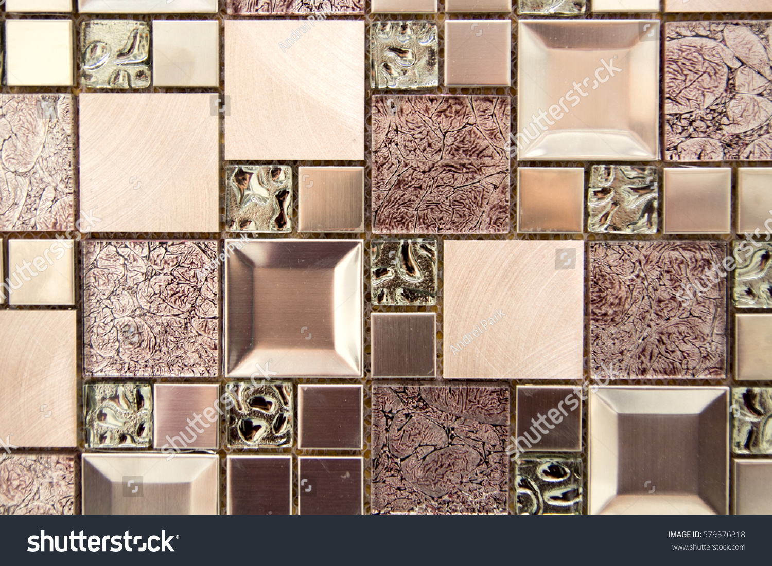 Ceramic Decorative Tiles Different Textures Covering Stock Photo