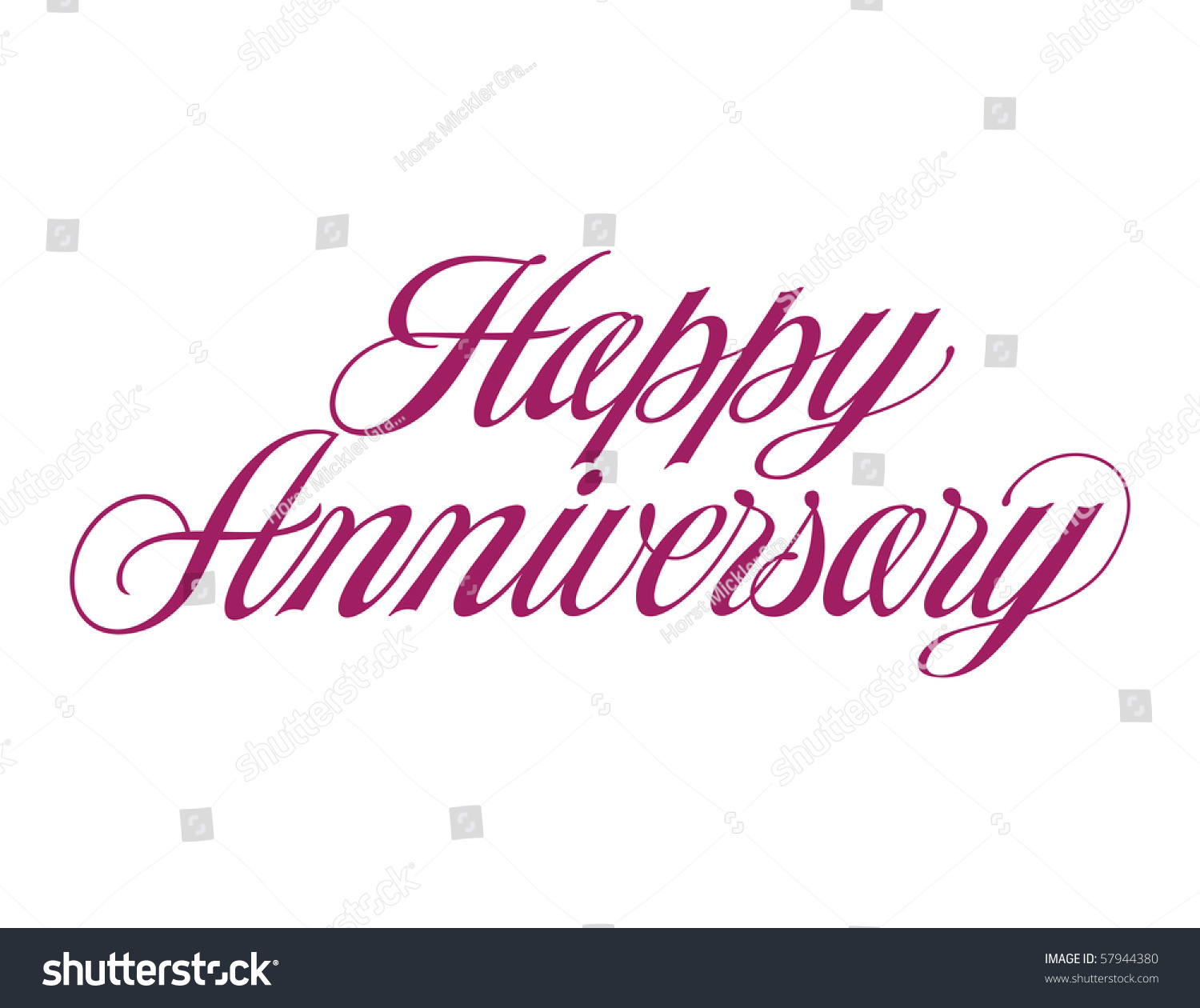 happy anniversary vector lettering 57944380