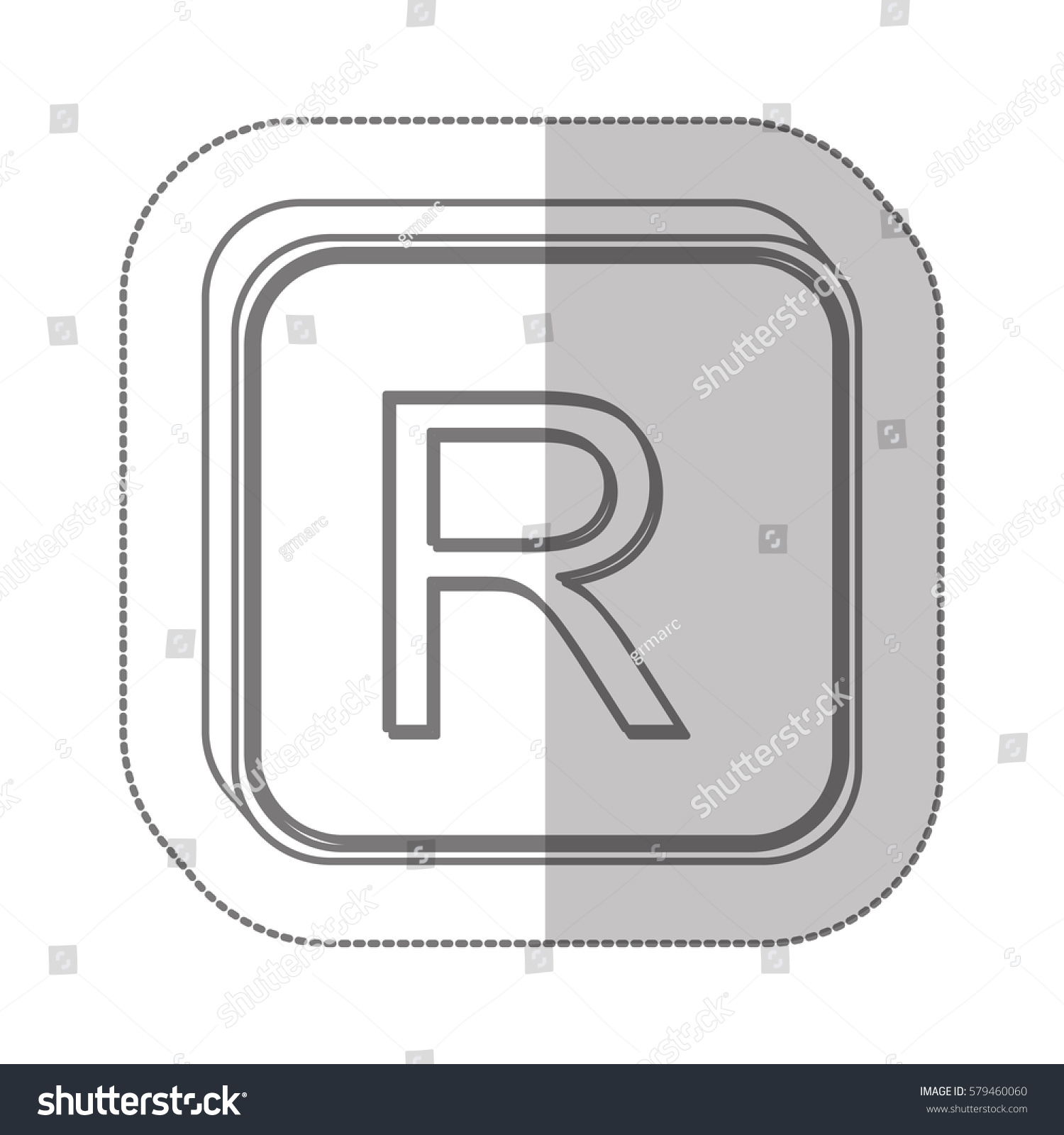 Rand currency symbol icon image vector stock vector 579460060 rand currency symbol icon image vector illustration buycottarizona
