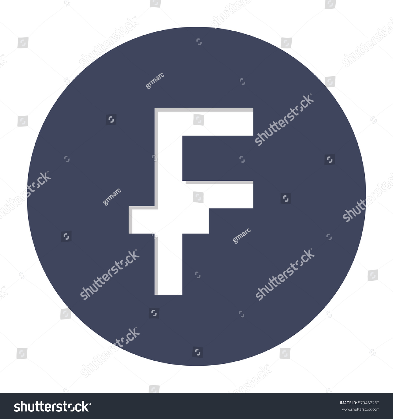 Franc Currency Symbol Icon Image Vector Stock Vector 579462262
