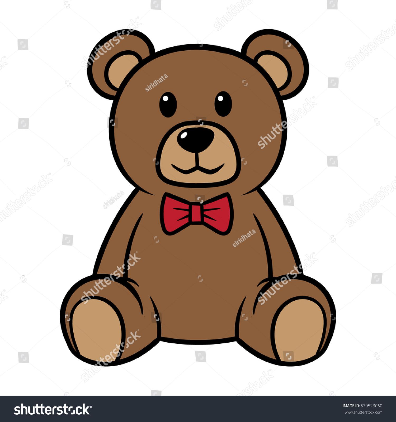 cartoon teddy bear vector illustration stock photo photo vector rh shutterstock com teddy bear vector icon teddy bear vector free download