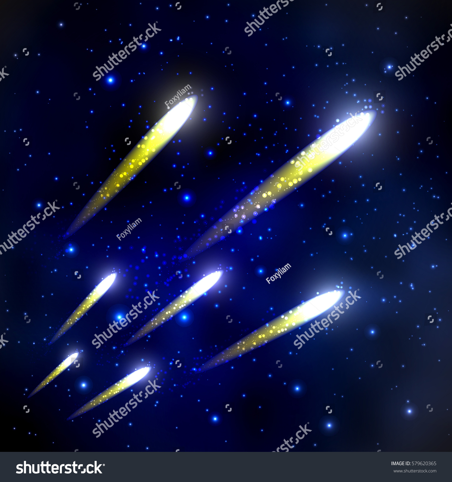 Comets flying through space starry sky stock illustration for Flying spaces