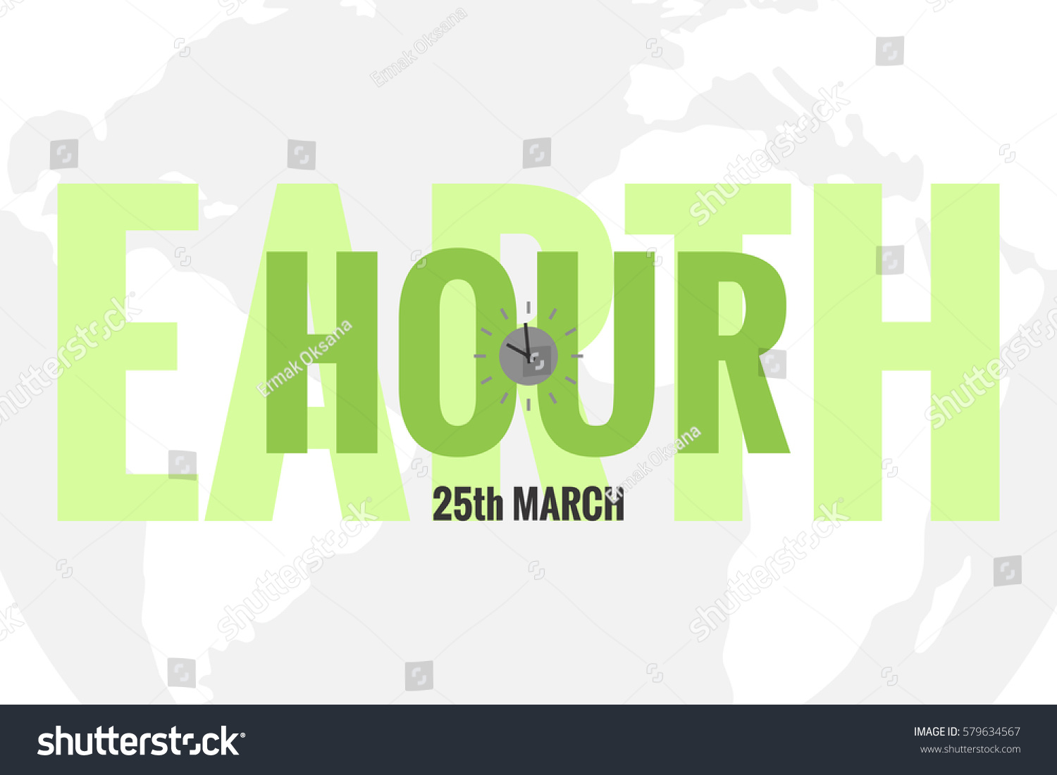 Vector template earth hour daylight saving stock vector 579634567 vector template of earth hour or daylight saving time with world map and clocks gumiabroncs Choice Image