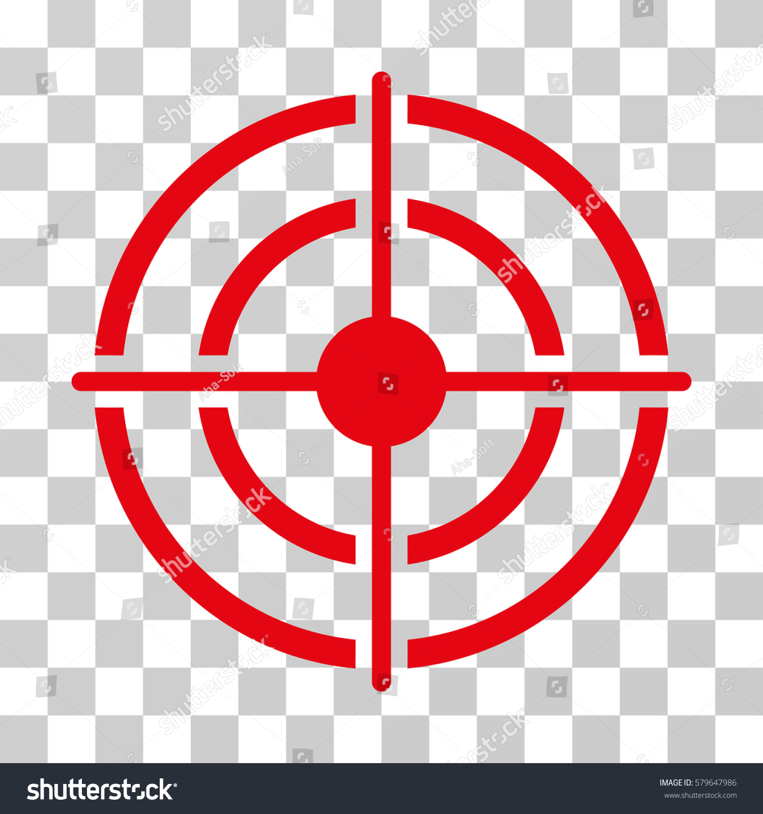 Target Icon Vector Illustration Style Flat Stock Vector Royalty Free 579647986