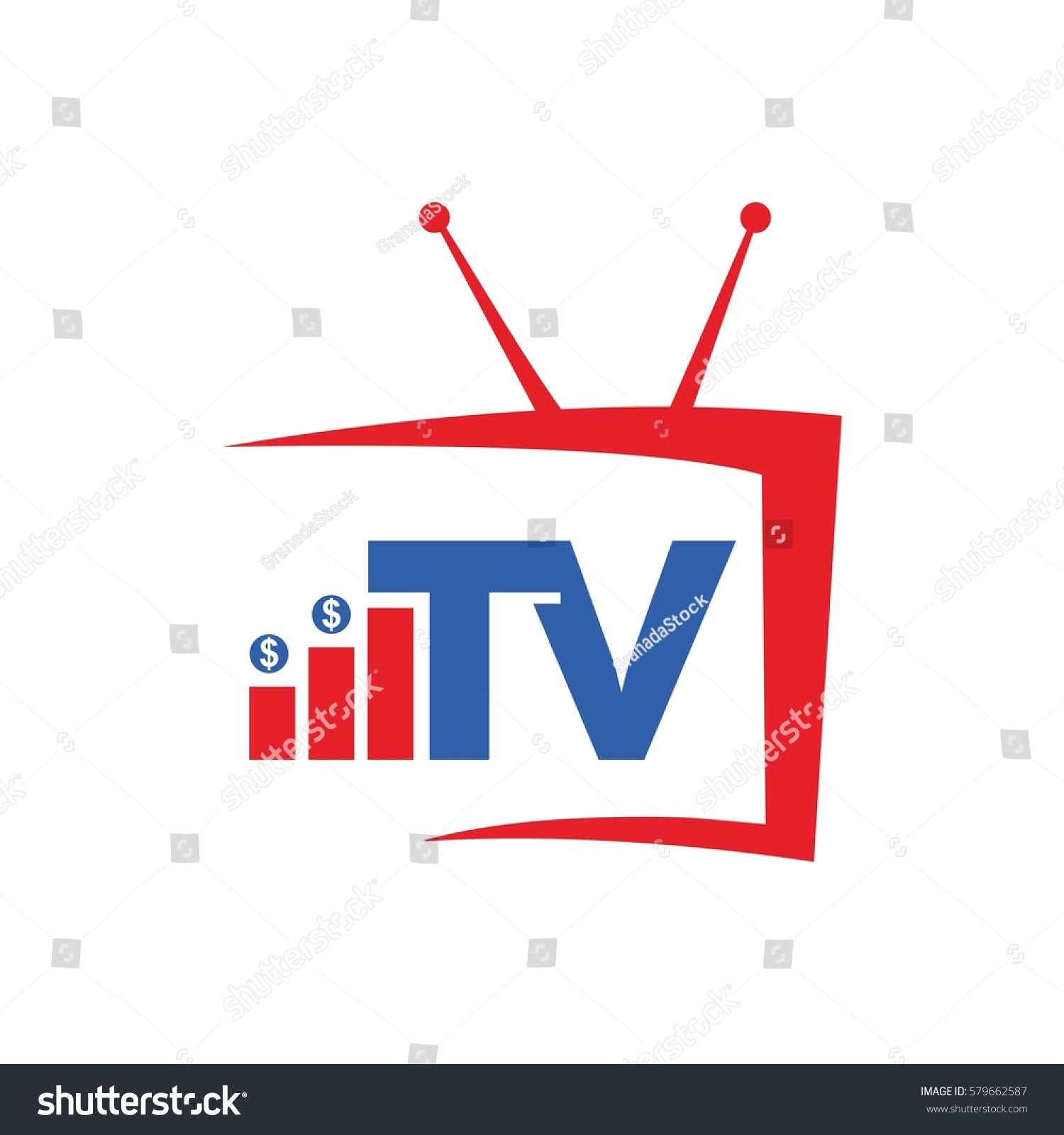 Tv Rating Vector Logo Design Stock Vector Royalty Free 579662587