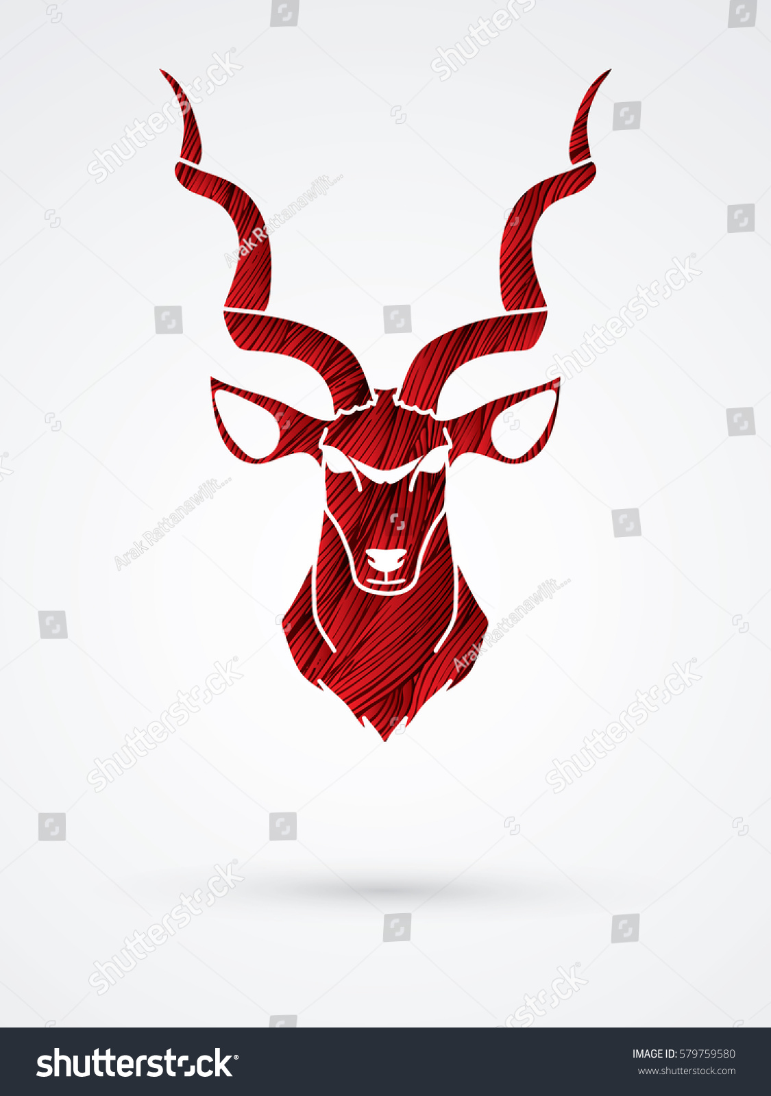 Kudu Horns Vector - photo#26