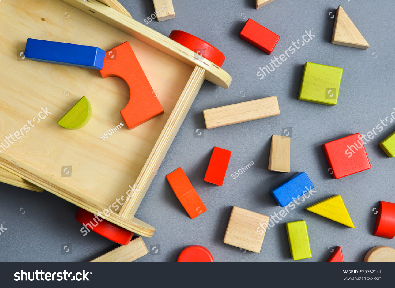 Toddler Wooden Walker Wagon Cubes Other Stock Photo Edit Now