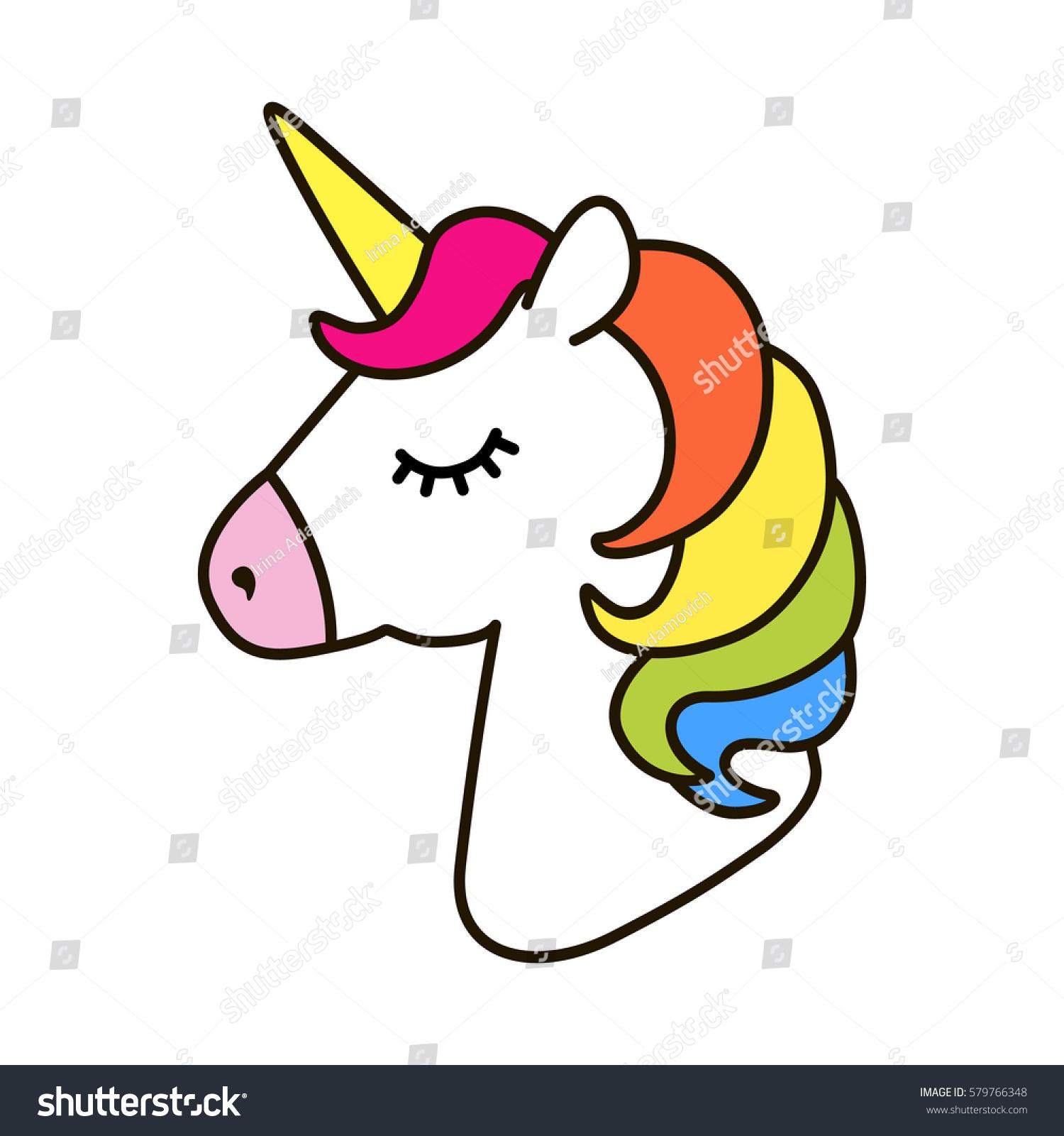 unicorn vector icon isolated on white stock vector