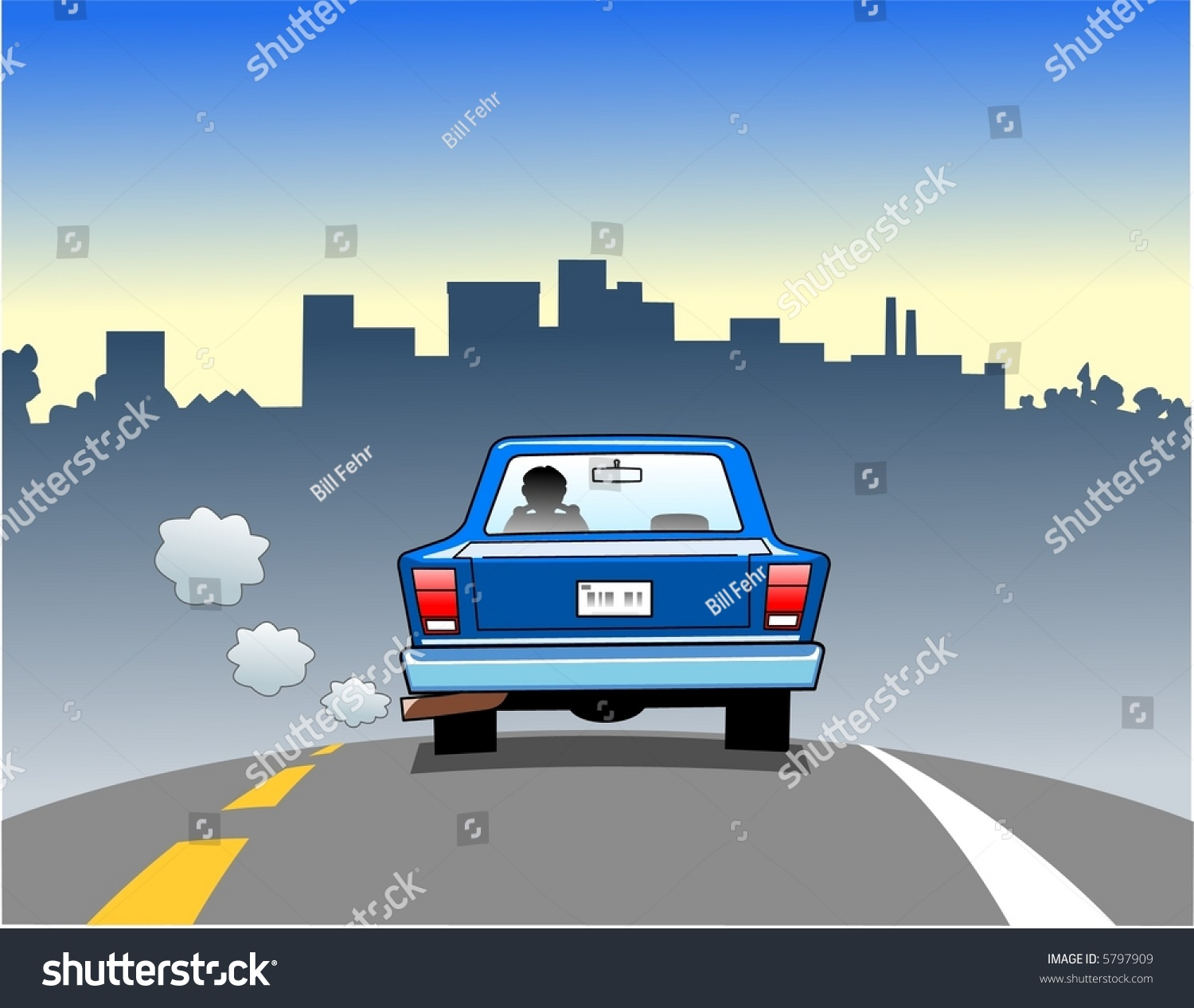 clipart car driving on road - photo #20