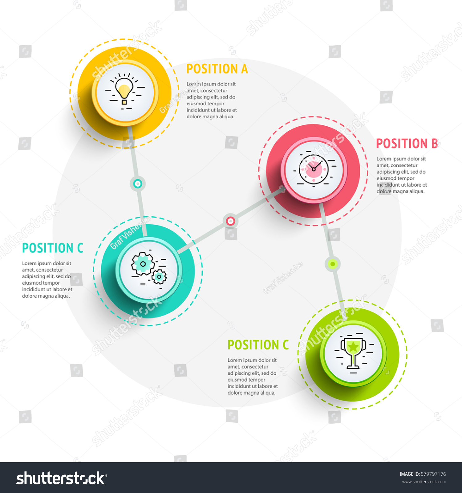 circle infographics elements design abstract business stock vector