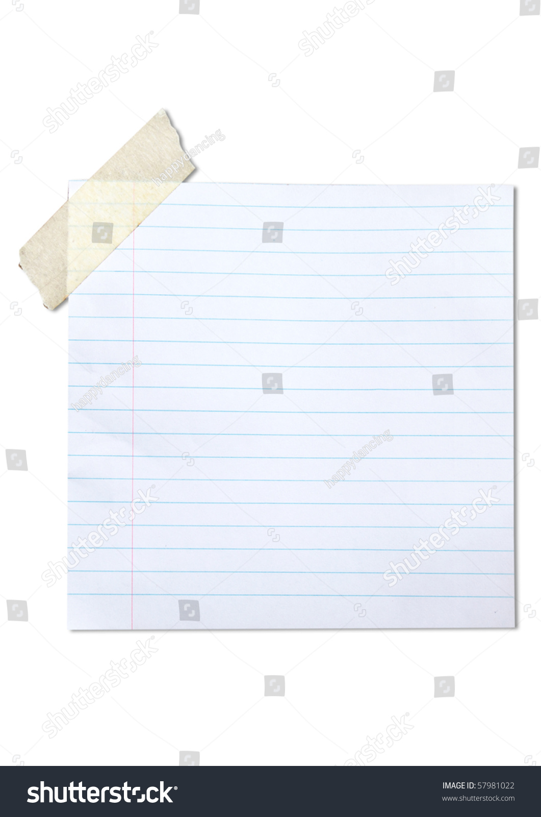 Lined Blank Paper Stuck With Brown Tape  Lined Blank Paper