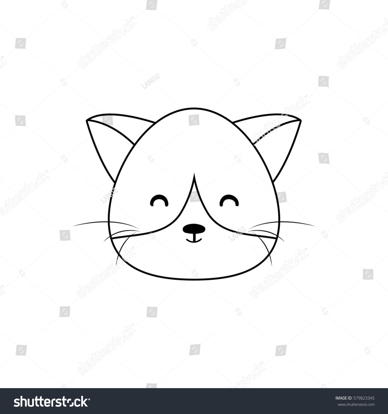 Uncategorized Cat Drawing Face cat drawing face stock vector 579823345 shutterstock face