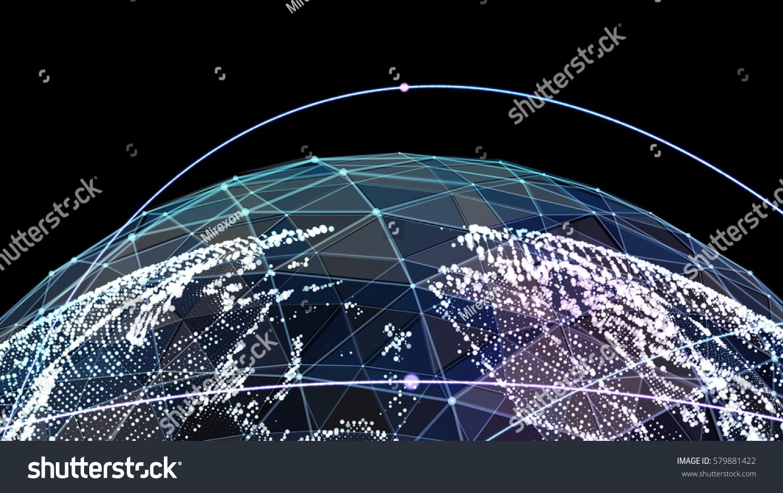 Digital world map global network satellite stock illustration digital world map global network satellite technology of earth 3d illustration publicscrutiny Gallery